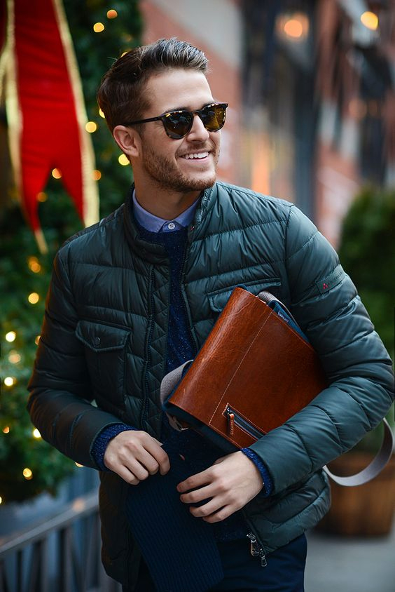 Gewatteerde jas voor mannen