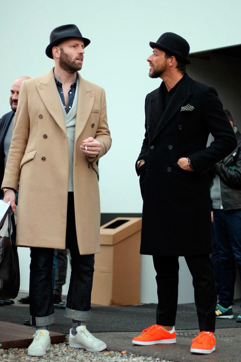 Mantel jas voor mannen