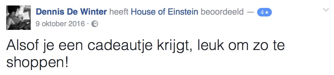 Facebook reactie