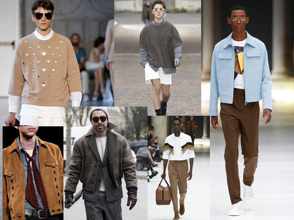 Herenkleding voorjaar 2017 trend bruin kaki beige