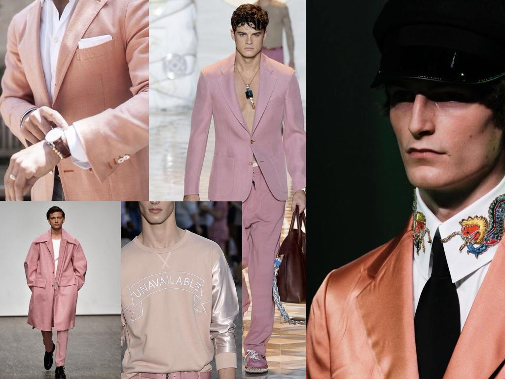 Herenkleding voorjaar 2017 trend oranje en roze